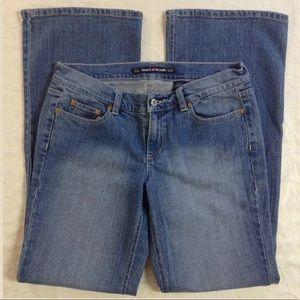 DKNY Times Square Flare Blue Denim Stretch Jeans